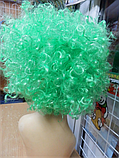 Парик карнавальний кучерявий зелений, фото 2