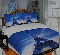 Постельное белье Rossi Хлопок 100% Двуспальный Евро комплект Ранфорс Турция эйфелева башня