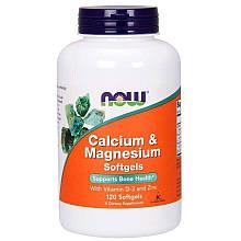 Биологически Активные Добавки Now Foods Calcium Magnesium Zinc Нау Фудс Магний и кальций с витамином Д и цинк