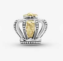 Серебряная подвеска шарм Корона бусина для браслета Pandora Пандора серебро