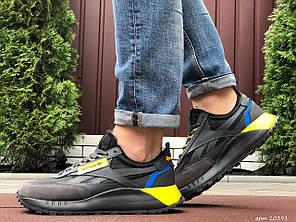 Чоловічі кроссовки Reebok чорний / жовтий. [Розміри в наявності: 42,43,44,45,46]