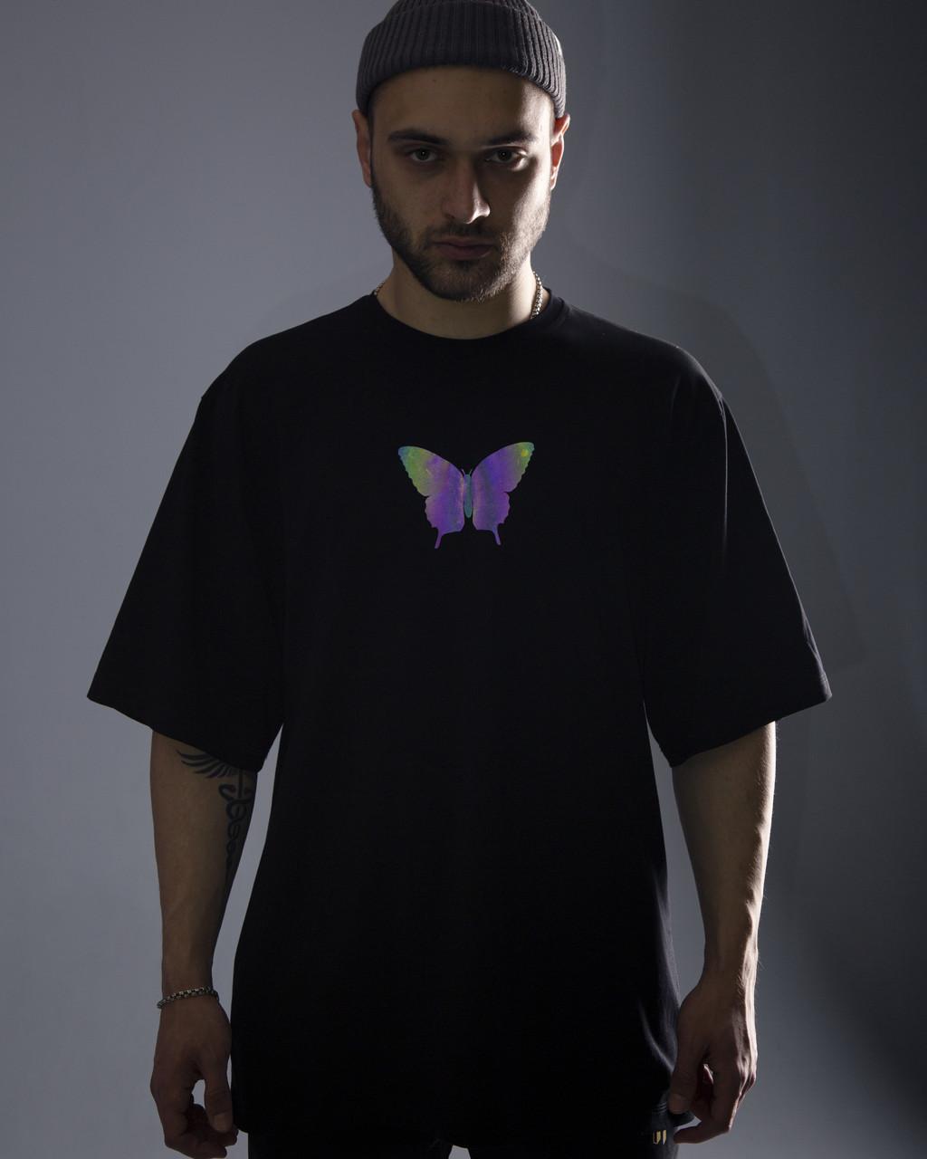 Футболка оверсайз Гармата Вогонь Butterfly чорна