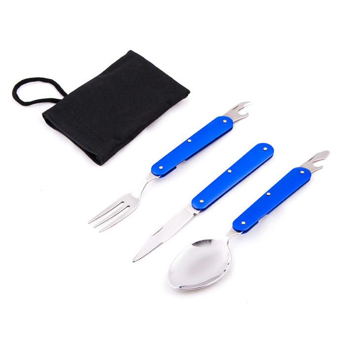Набір туристичний: виделка, ніж, ложка, HX-7