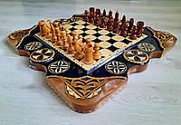 Шахматы + нарды ручной работы
