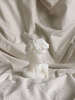 Свеча Давид большой 13см ручной работы. Декоративная ароматическая свеча мужское тело