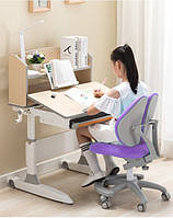 Парта трансформер клен и детское кресло (разные цвета)