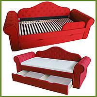 Диван кровать МЕЛАНИ красная 2250*860 (сп.место 1700х800) на ламелях с ящиком