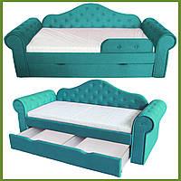 Диван кровать МЕЛАНИ бирюза 2250*860 (сп.место 1700х800) на ламелях с ящиком