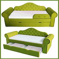 Диван кровать МЕЛАНИ лайм 2250*860 (сп.место 1700х800) на ламелях с ящиком