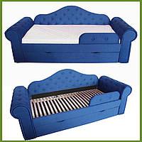 Диван кровать МЕЛАНИ синий 2250*860 (сп.место 1700х800) на ламелях с ящиком