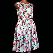 Платье Lady Vintage, сатин, большой размер 20(54)