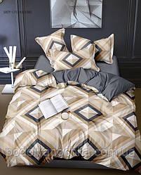 Двоспальний комплект з сатину  Різнокольорові ромби