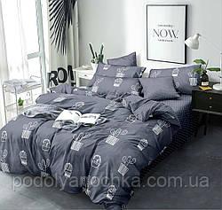 Двоспальний комплект з сатину Кактуси