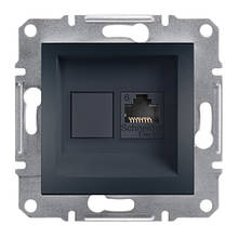 Розетка компьютерная RJ45 UTP кат. 6 антрацит Asfora Plus EPH4700171
