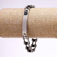 Мужской браслет гусеничная лента нержавеющая сталь каучук