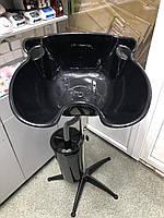 Мойка парикмахерская пластиковая черная MTG-00