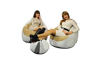 2 кресла из Флока + пуфик улик в подарок, фото 2
