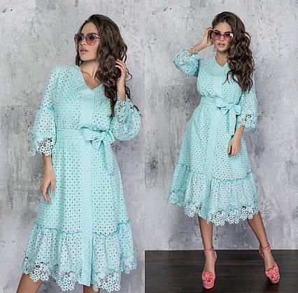 """Нарядное женское платье 1296 """"Прошва Миди Макраме"""" в расцветках"""