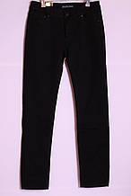Жіночі чорні джинси великих розмірів утеплені на флісі з високою посадкою (30-44рр.)