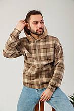 Мужская куртка-рубашка в клетку