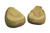 Два кресла из искусственной замши + пуфик улик в подарок!