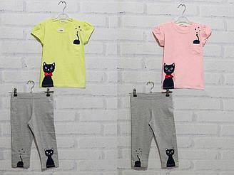 Комплект для девочки футболка с коротким рукавом + бриджи Breeze (размер 3(98))