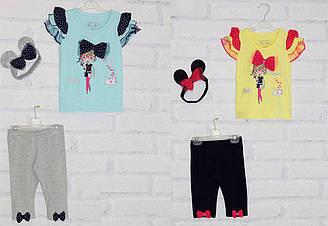 Комплект для девочки футболка с коротким рукавом + бриджи Breeze (размер 68)