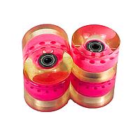 Комплект колес для Penny Board (пенни борда) с подшипником 60мм 4шт. розовые