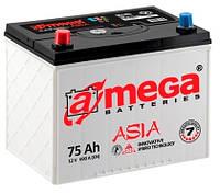 Аккумулятор автомобильный A-mega Premium (Азия) 6СТ-75-А3E