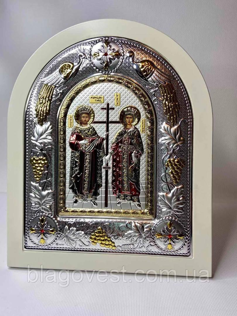 Ікона Костянтин і Олена 24х29 дерево емаль каміння (Греція, Метеори)