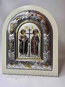 Икона Константин и Елена 24х29 дерево эмаль камни (Греция-Метеоры)