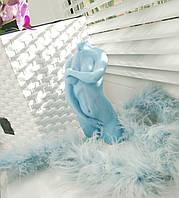 """Свеча женская фигура """"Афродита"""".Цвет:Голубой Высота:13.5см. Материал:Парафин"""