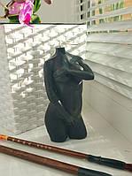 """Свеча женская фигура """"Афродита"""".Цвет:Чёрный Высота:13.5см. Материал:Парафин"""