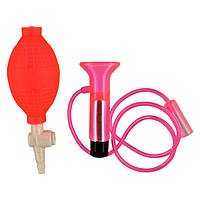 Вакуумный вибромассажер для клитора и сосков - Pink Suction Cup