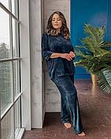 Домашний велюровый женский костюм батал с 50 по 68 размер