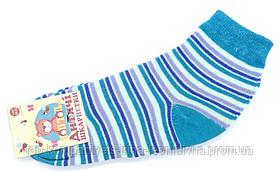Шкарпетки дитячі ТОП-ТАП 20-22р 32-34 бірюзова смужка (Д-102)