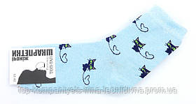 Шкарпетки жіночі ТОП-ТАП Котики класичні блакитний 23-25р 37-40 (Ж-112)