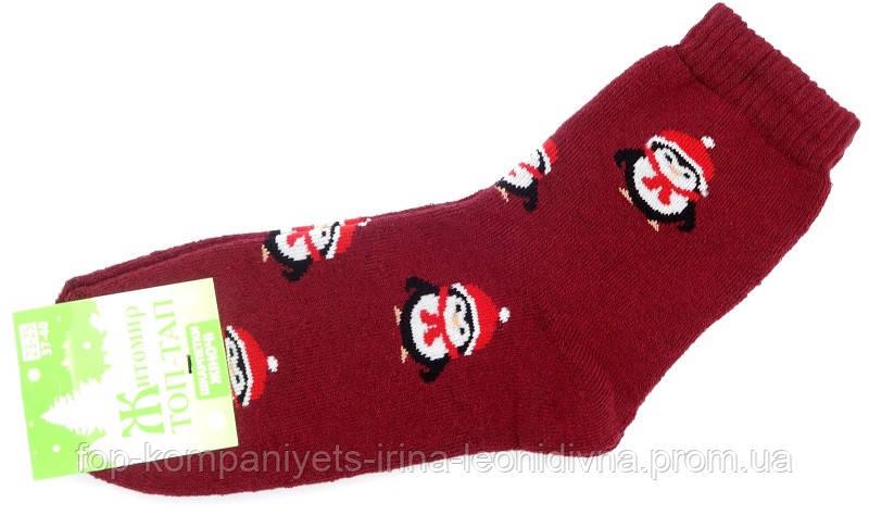 Шкарпетки жіночі ТОП-ТАП Пінгвін плюшеві теплі класичні бордовий 23-25р 37-40 (Ж-107)