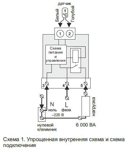 Варианты подключений терморегулятора к системе «тёплый пол», фото1