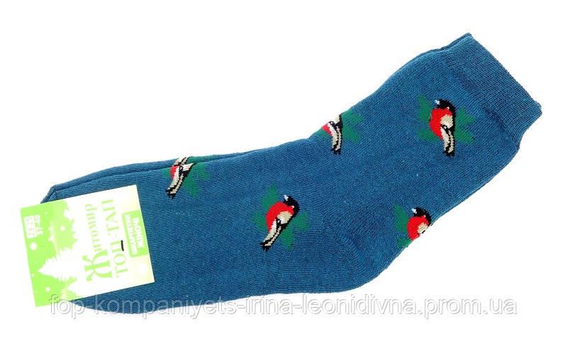 Шкарпетки жіночі ТОП-ТАП Снігур плюшеві теплі класичні бірюзовий 23-25р 37-40 (Ж-107)