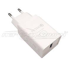 Мережевий зарядний пристрій USB Quick Charge 3.0 (5V, 9V, 12V) (білий), 3 А ( 5 V )