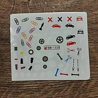 Слайдер дизайн наклейки для маникюра