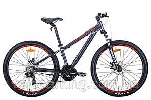 "Велосипед 26"" Leon SUPER JUNIOR 2021 (антрацитовий з червоним (м))"