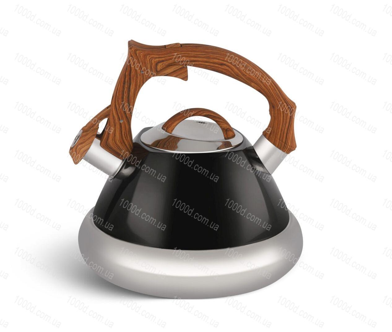 Чайник из нержавеющей стали со свистком Edenberg 3.0 л Черный (EB-8823B)