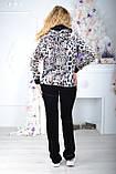 Жіночий велюровий турецький костюм EZE купити розм 50,52,54,56, фото 2