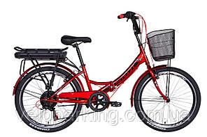 "Електровелосипед 24"" Formula SMART 350Вт 36В редуктор. дисплей, САП, 12.5 Ач с крепл. до багажн., 2021"