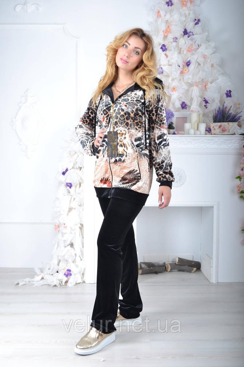 Велюровый женский спортивный турецкий костюм EZE купить разм 50,52 баталы
