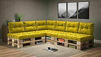 Подушки Comfort , подушки для садових меблів , меблі loft , диван з піддонів в стилі лофт, фото 4