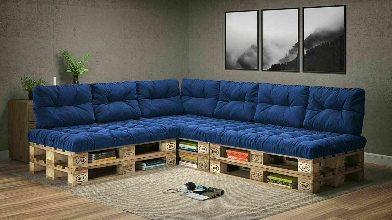 Подушки Comfort , подушки для садових меблів , меблі loft , диван з піддонів в стилі лофт