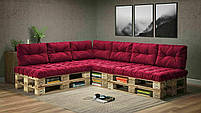 Подушки Comfort , подушки для садових меблів , меблі loft , диван з піддонів в стилі лофт, фото 5